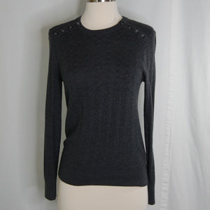 {Banana Republic} Gray Cable Knit Sweater Size XS